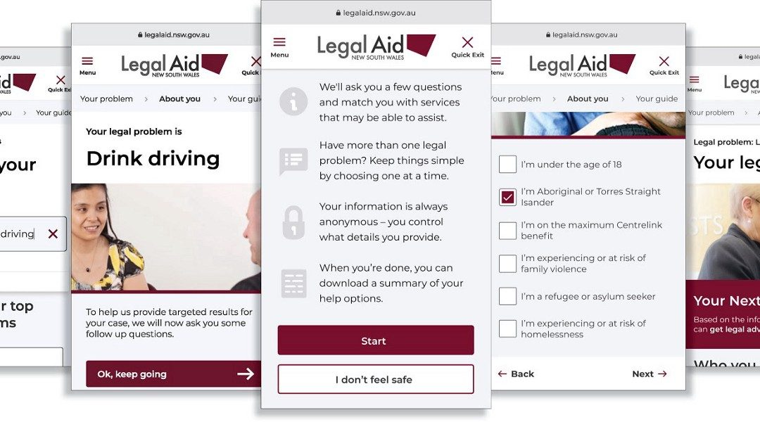Legal Aid New South Wales – Online Triage Tool
